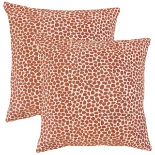 Set of 2  Badr Geometric Throw Pillows in Chili