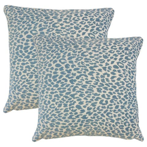 Set of 2 Pesach Animal Print Throw Pillows in Delft