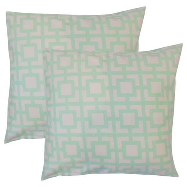 26d315bff524 Shop Set of 2 Callas Geometric Throw Pillows in Mint - Free Shipping Today  - Overstock - 18154359