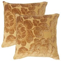 Set of 2  Cenobia Floral Throw Pillows in Ginger