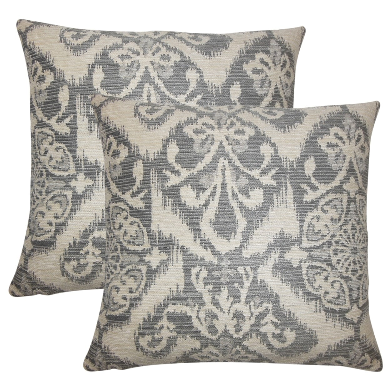 The Pillow Collection Ingalill Ikat Fog Down Filled Throw Pillow