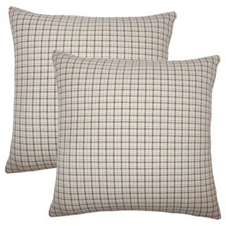Set of 2  Quora Plaid Throw Pillows in Toffee