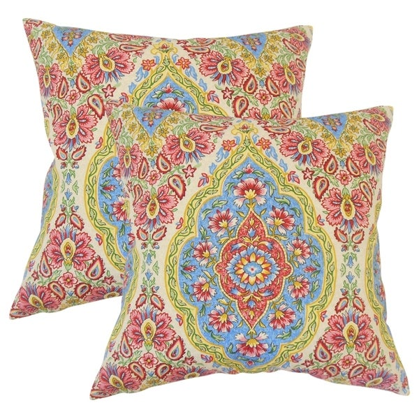 Set of 2 Quade Floral Throw Pillows in Multi