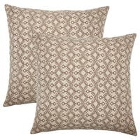 Set of 2  Gzifa Ikat Throw Pillows in Brown