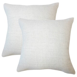 Set of 2  Xabier Solid Throw Pillows in Oyster