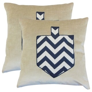 Set of 2 Melchior Holiday Throw Pillows in Chevron