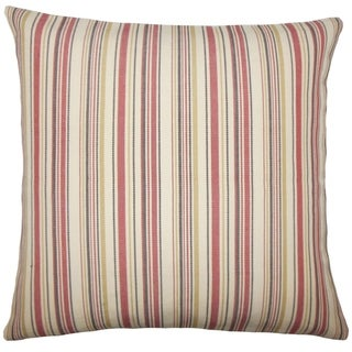 Set of 2  Velika Striped Throw Pillows in Red