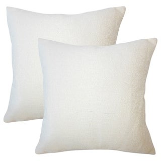 Set of 2  Winslow Solid Throw Pillows in Creme