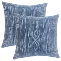 Set of 2  Indira Solid Throw Pillows in Navy