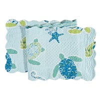 Imperial Coast Cotton Quilted Reversible Table Runner 14x51