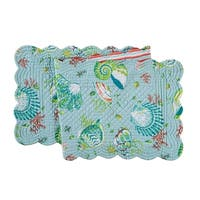Laguna Breeze Cotton Quilted Reversible Table Runner 14x51