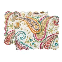 Adalynn Cotton Quilted Reversible Table Runner 14x51