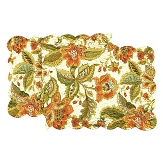 Amelia Cotton Quilted Reversible Table Runner 14x51