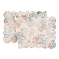 Seabrook Cotton Quilted Reversible Table Runner 14x51