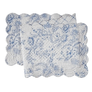 Clementina Dusk Cotton Quilted Reversible Table Runner 14x51