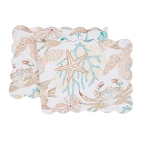 Key Biscayne Cotton Quilted Reversible Table Runner 14x51