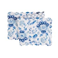 Sasha Blue Cotton Quilted Reversible Table Runner 14x51