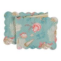 Isla de Coral Cotton Quilted Table Runner
