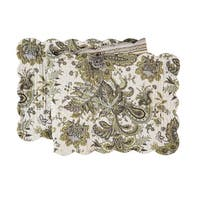 Ezmeralda Cotton Quilted Reversible Table Runner 14x51