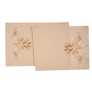 Give Thanks Cotton Embroidered Table Runner 14x51