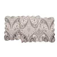 Nazima Gray Cotton Quilted Reversible Table Runner 14x51