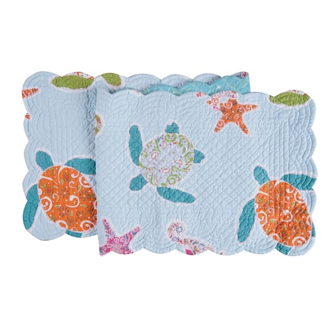 St. Kitts Cotton Quilted Reversible Table Runner 14x51