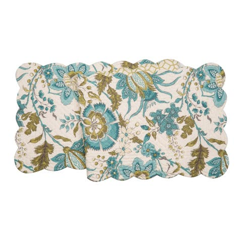 Ariana Glade Cotton Quilted Reversible Table Runner 14x51