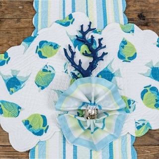 Island Bay Cotton Quilted Reversible Table Runner 14x51