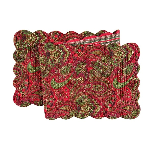 Gloria Cotton Quilted Reversible Table Runner 14x51