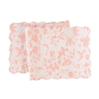 Brighton Pink Cotton Quilted Reversible Runner 14x51