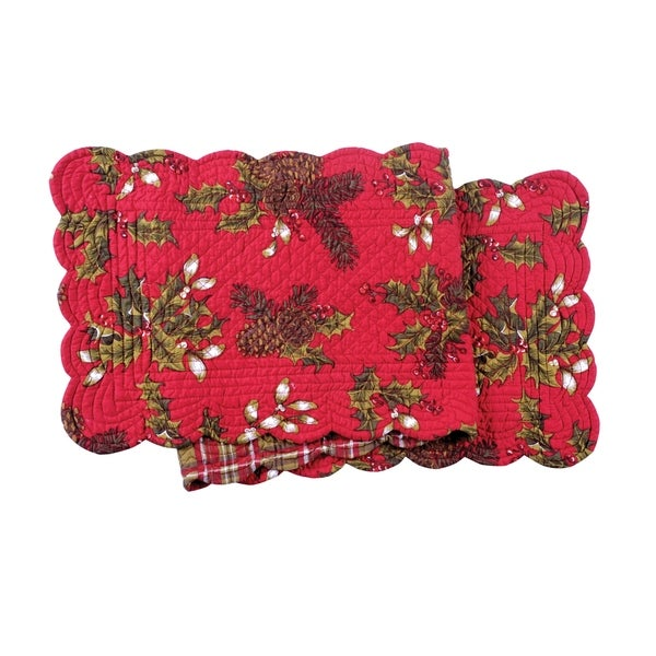 Kellyn Cotton Quilted Reversible Table Runner 14x51