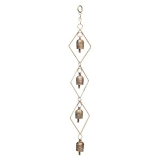 Handcrafted Delicate Diamond Bell Chime (India)