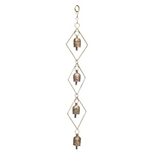 Handmade Delicate Diamond Bell Chime (India)