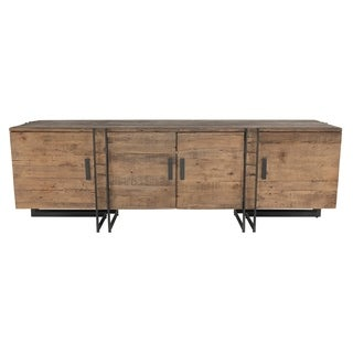 Martine Reclaimed Pine 4 Door TV Stand by Kosas Home - 26hx79wx21d