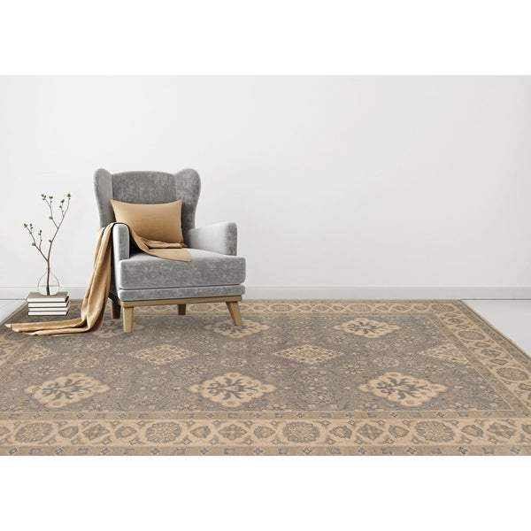 Shop Hand Knotted Ariel Blue Traditional Area Rug 10 X