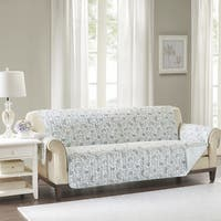 The Gray Barn Bonsall Blue Quilted Reversible Cotton Sofa Protector