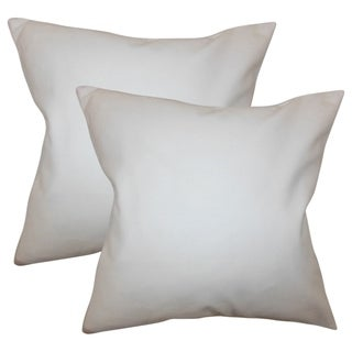Set of 2 Mabel Solid Throw Pillows in White