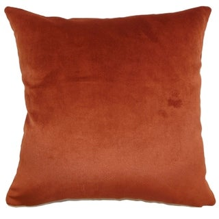Set of 2  Juno Solid Throw Pillows in Rust