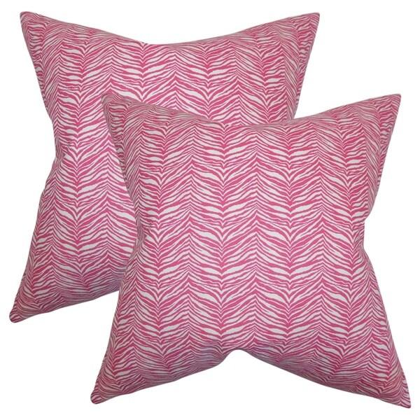 Shop Set Of 40 Cecania Zebra Print Throw Pillows In Pink White On Impressive Pink Zebra Print Decorative Pillows