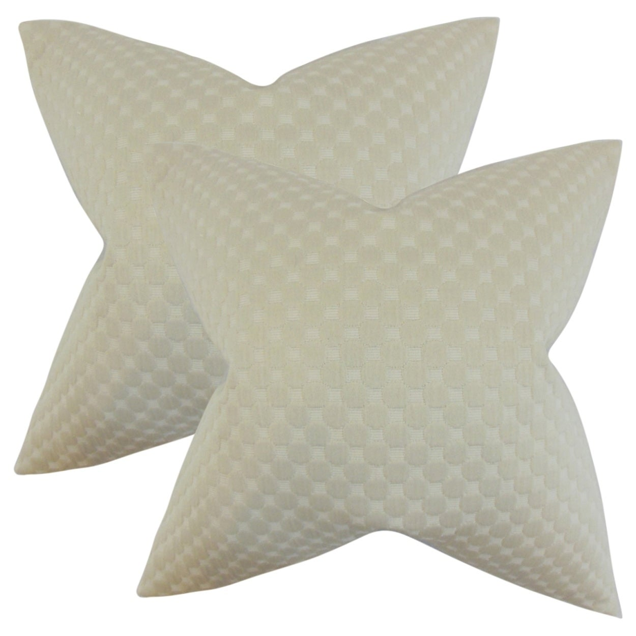 Set of 2  Kasen Solid Throw Pillows in Neutral