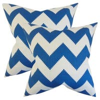 Set of 2  Maillol Zigzag Throw Pillows in Marine