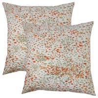Set of 2  Yash Graphic Throw Pillows in Persimmon
