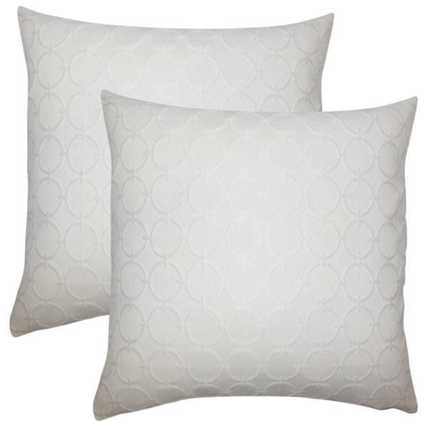 Set of 2 Vadim Geometric Throw Pillows in Natural