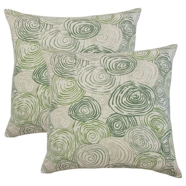 Set of 2 Blakesley Graphic Throw Pillows in Grass