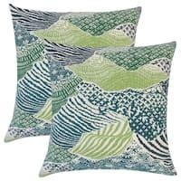 Set of 2  Vaughan Ikat Throw Pillows in Palm