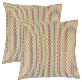 Set of 2  Caroun Stripes Throw Pillows in Confetti
