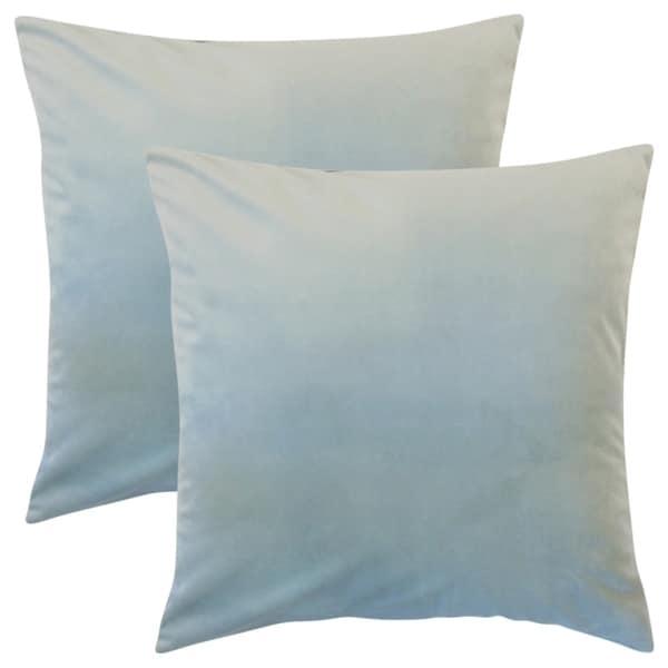 Set of 2 Nizar Solid Throw Pillows in Sky Blue