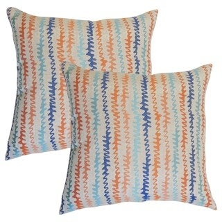 Set of 2 Malu Zigzag Throw Pillows in Harvest