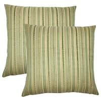 Set of 2  Uorsin Striped Throw Pillows in Mojito