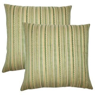 Set of 2  Uorsin Striped Throw Pillows in Mojito